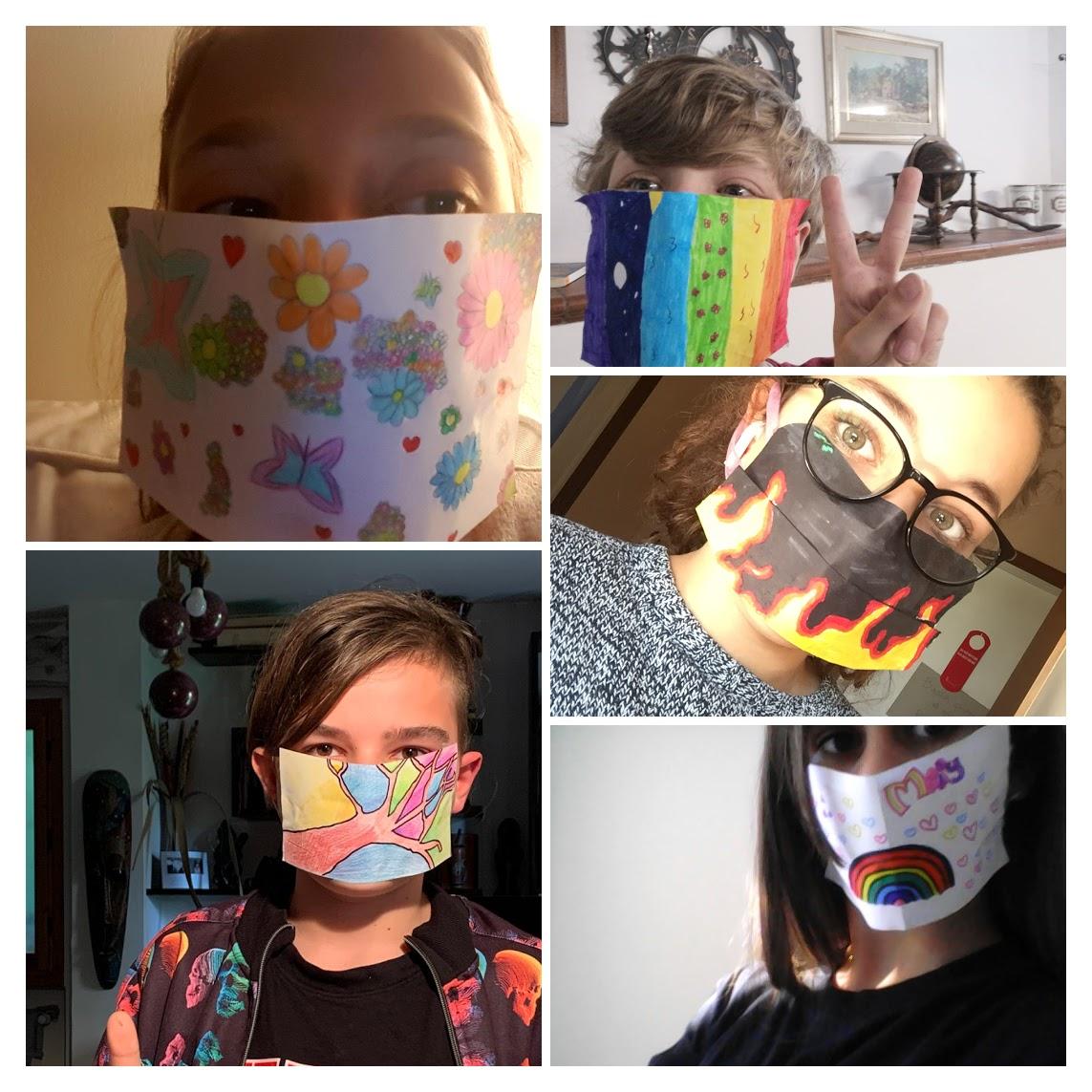 Collage foto mascherine