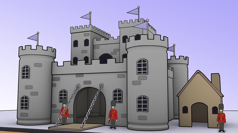 Disegno castello medioevale