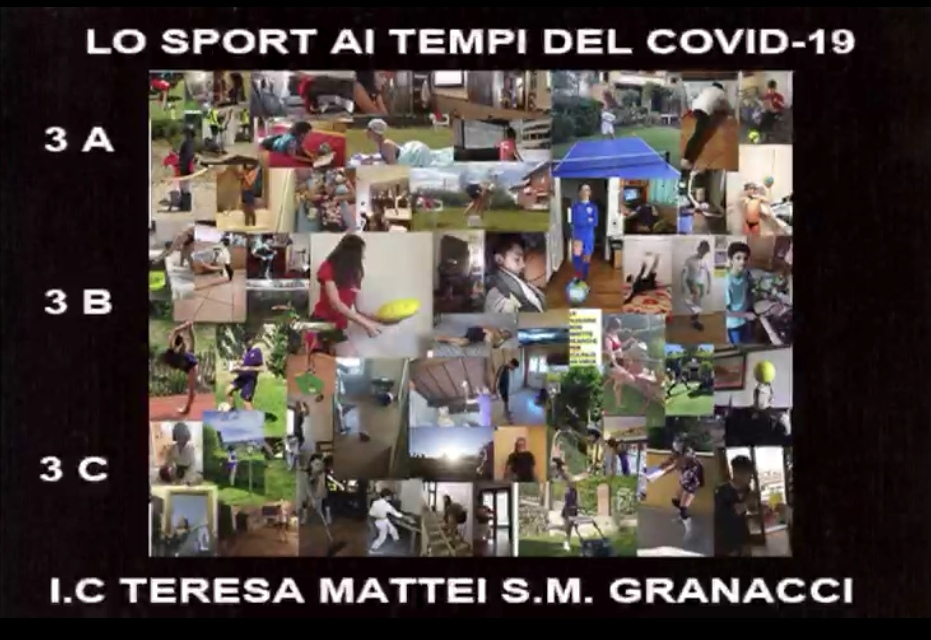 Collage di foto ironiche sullo sport