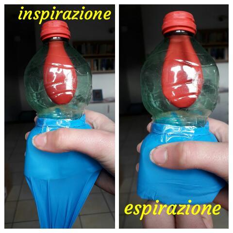 Bottiglia di plastica con palloncino