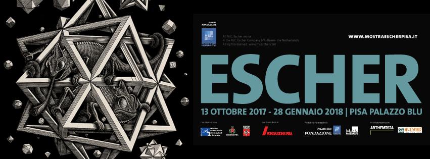 manifesto mostra Pisa Palazzo Blu Escher