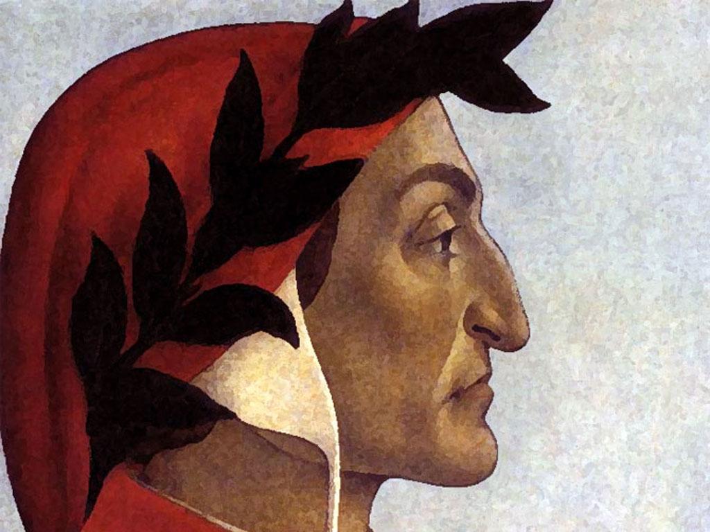 Disegno del volto di Dante Alighieri