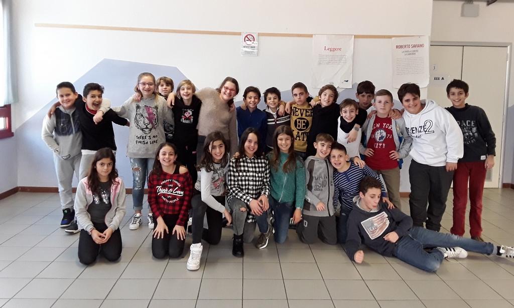 La 1^A della Scuola Secondaria di 1°gr Granacci (2017/18